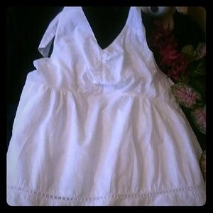🍰OH BABY!ny MOTHERHOOD WHITE HALTER TOP Sz M